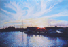 Cobourg Harbour Sunset • Acrylic on Canvas